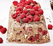 Υπέροχος κορμός με παγωτό και σος σοκολάτας