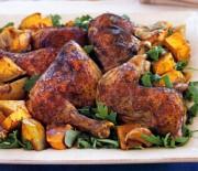 Κοτόπουλο με ασιατικές γεύσεις και ζεστή σαλάτα κολοκύθας