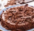 Μους σοκολάτας σε μπισκοτένια βάση