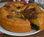 Κέικ με Νουτέλα και τυρί μασκαρπόνε
