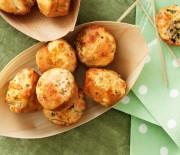 Τυροπιτάκια muffins με 3 τυριά