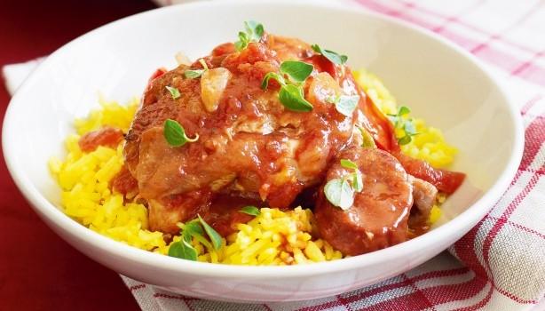 Ισπανικό κοτόπουλο στη γάστρα