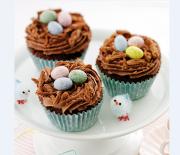 Σοκολατένια cupcakes φωλιά