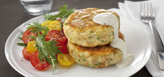 Tuna-Potato-Garlic-Cakes