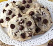 Cookies μπανάνας με σταγόνες σοκολάτας