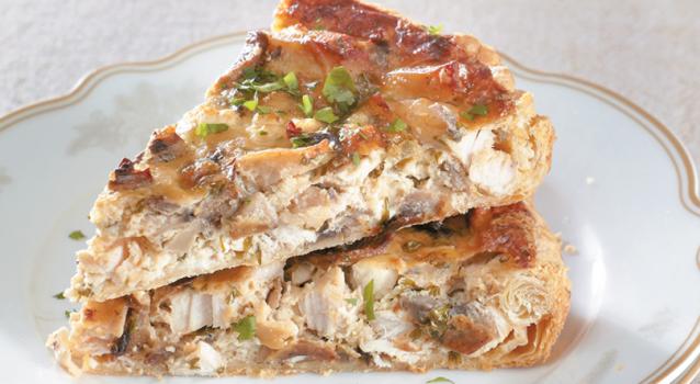 Τάρτα με κοτόπουλο και μανιτάρια