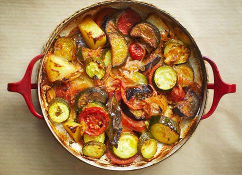 Μπριάμ λαχανικών με δυόσμο και βασιλικό