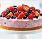 Πανεύκολο cheesecake με φρέσκα φρούτα χωρίς ψήσιμο