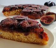 Αναποδογυριστό κέικ με καραμελωμένα φρέσκα σύκα