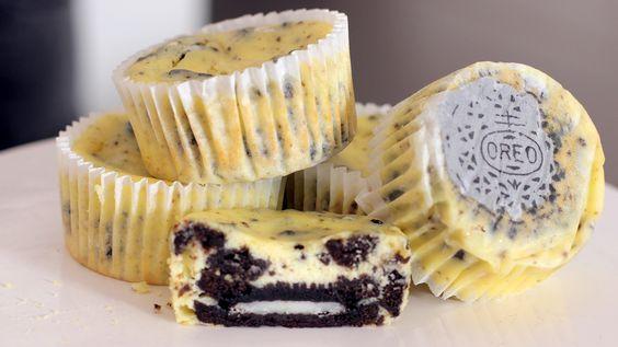 Μίνι cheesecakes με oreo (Video)