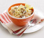 Μακαρόνια με λεμονάτη σάλτσα μανιταριών