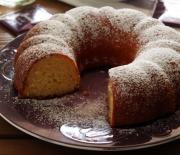 Ελαφρύ κέικ με λεμόνι και γιαούρτι, χωρίς μίξερ
