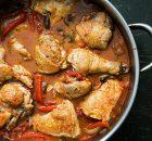 Κοτόπουλο με πιπεριές και μανιτάρια
