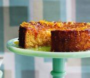 Σιροπιαστό κέικ πορτοκαλιού χωρίς γλουτένη