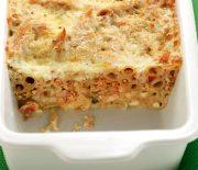 Παστίτσιο με κιμά κοτόπουλου και κρέμα τυριού