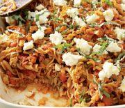 Φουσίλι με ντομάτα και λαχανικά στο φούρνο