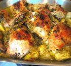 Κοτόπουλο λεμονάτο με αγκινάρες