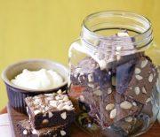 Μπράουνις σοκολάτας με αμύγδαλα