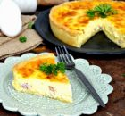 Γαλλική Κις Λορέν με μπέικον και τυρί Έμενταλ