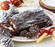 Κλασικός Χριστουγεννιάτικος κορμός σοκολάτας