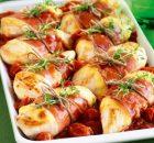 Στήθος κοτόπουλου με προσούτο και μοτσαρέλα στο φούρνο