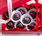 Σοκολατένια τρουφάκια με καραμέλα
