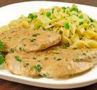Κοτόπουλο με κρεμώδη σάλτσα μουστάρδας-τυριού