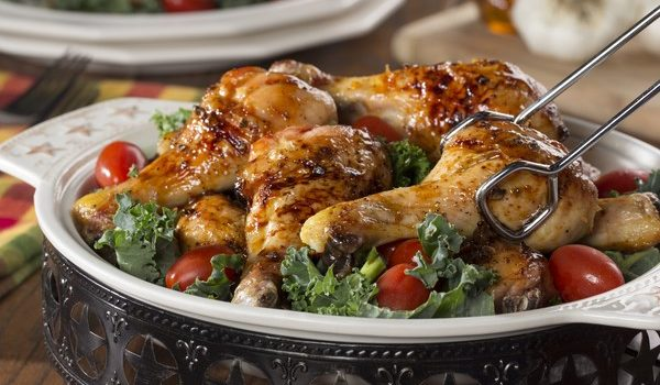 Μπουτάκια κοτόπουλο με μέλι και σκόρδο