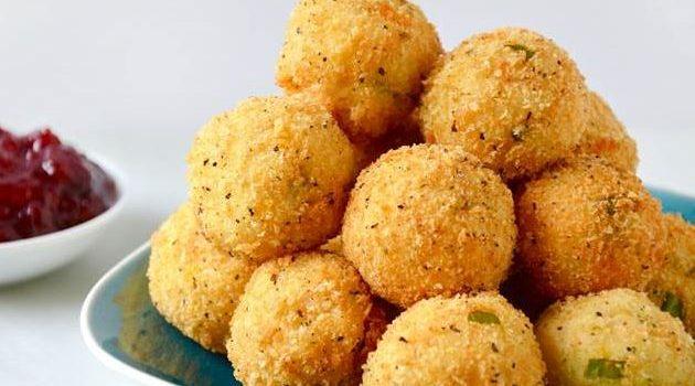 Πατατοκροκέτες με κοτόπουλο και τυρί