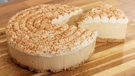 Cheesecake καπουτσίνο χωρίς ψήσιμο (Video)