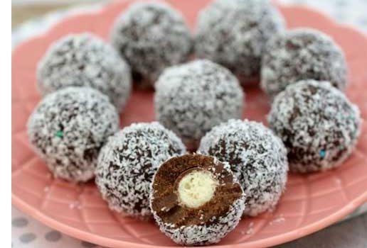 Σοκολατένια τρουφάκια maltesers με 4 υλικά σε 10 λ