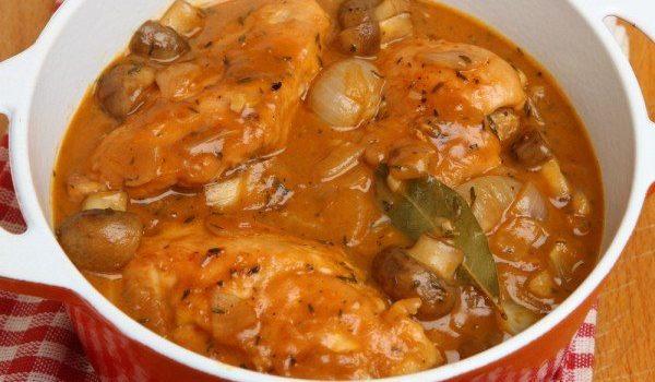 Κοτόπουλο του Κυνηγού (Chicken Chasseur)