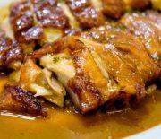 Κοτόπουλο με κρεμώδη σάλτσα άνηθου και σκόρδου