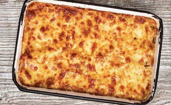 Πέννες με μελιτζάνες και τυριά στο φούρνο