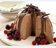 Παγωτό σοκολάτας μπόμπα με ινδοκάρυδο και σος σοκολάτας