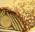 Σοκολατένιος κορμός πυραμίδα με μπανάνα (Video)