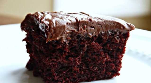 Πανεύκολο υγρό κέικ σοκολάτας χωρίς αυγά και βούτυρο