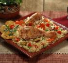 Κοτόπουλο με ρύζι και λαχανικά