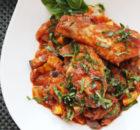 Μπουτάκια κοτόπουλου με μπριάμ στη κατσαρόλα