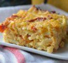 Πατάτες με αυγά και τυρί το φούρνο