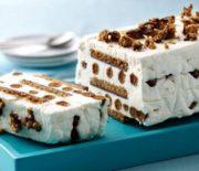 Παγωμένο γλυκό ψυγείου με μπισκότα με 5 υλικά