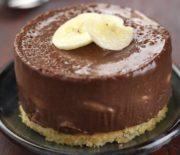 Σοκολατένια γλυκάκια με σοκολάτα πραλίνα και μπανάνα