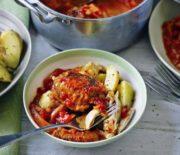 Κοτόπουλο κατσιατόρε με λαχανικά και πατάτες