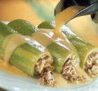 Κολοκυθάκια γεμιστά με κιμά ρύζι και κρέμα αυγολέμονο