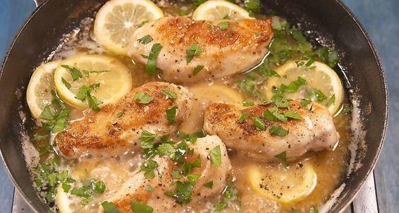 Κοτόπουλο λεμονάτο με σκόρδο (Video)