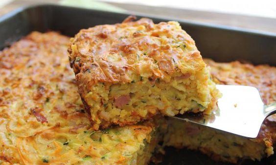 Κολοκυθόπιτα με μπέικον και τυρί χωρίς φύλλο
