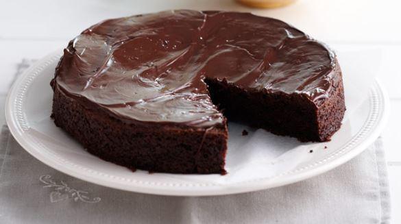 Σοκολατόπιτα με γλάσο σοκολάτας