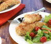 Τραγανό φιλέτο κοτόπουλου με σάλτσα γιαουρτιού μουστάρδας