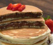Pancakes γεμιστά με μερέντα (Video)
