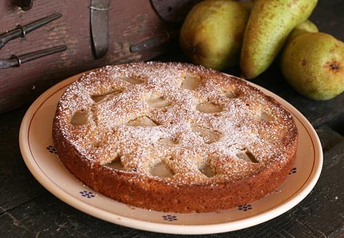Κέικ με αχλάδια